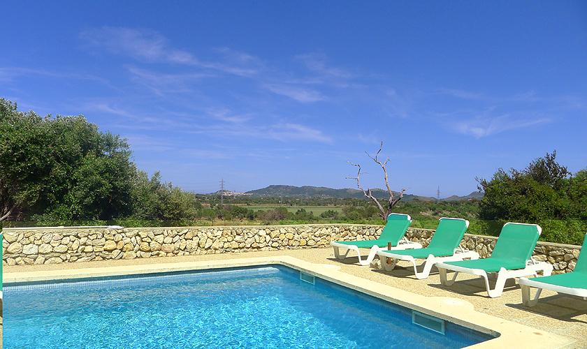 Pool und Blick Finca Mallorca 10 Personen PM 5591