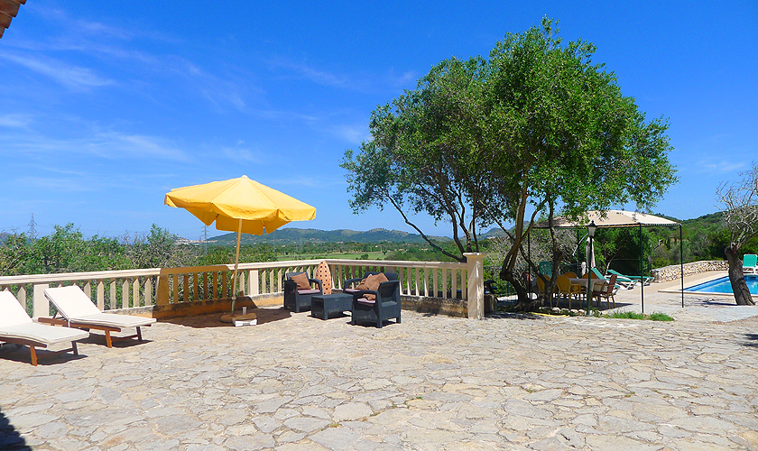 Terrasse Finca Mallorca Nordosten PM 5591