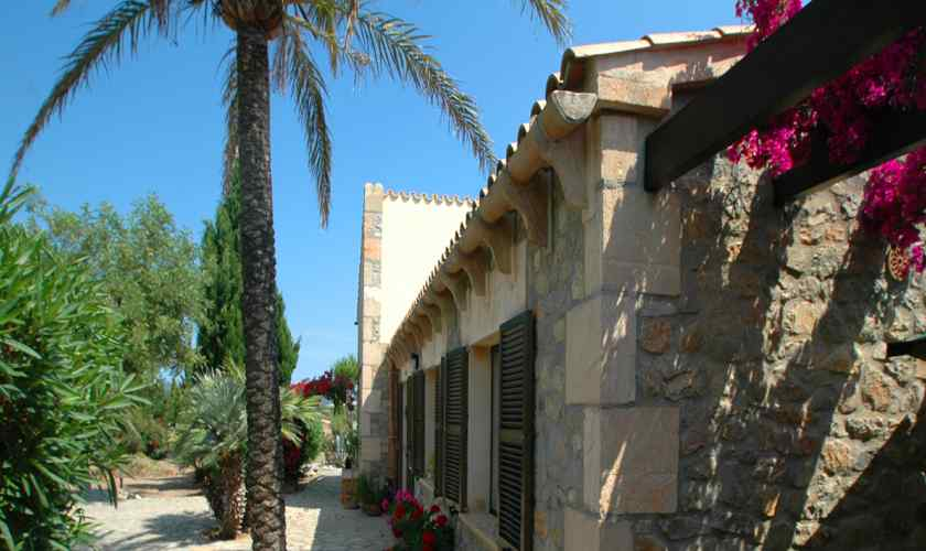 Blick auf die Ferienfinca Mallorca Nordosten PM 5595