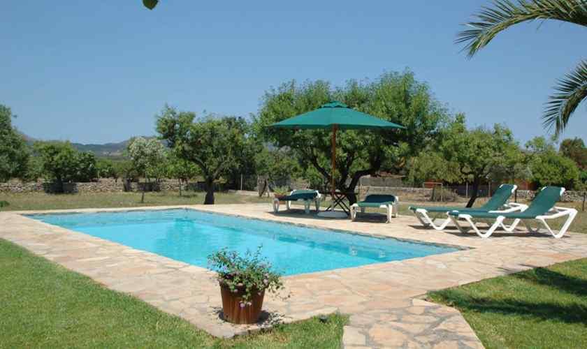 Pool und Garten Finca Mallorca 6 Personen PM 5595