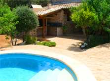 Pool und Aussenküche Finca Mallorca bei Arta PM 559
