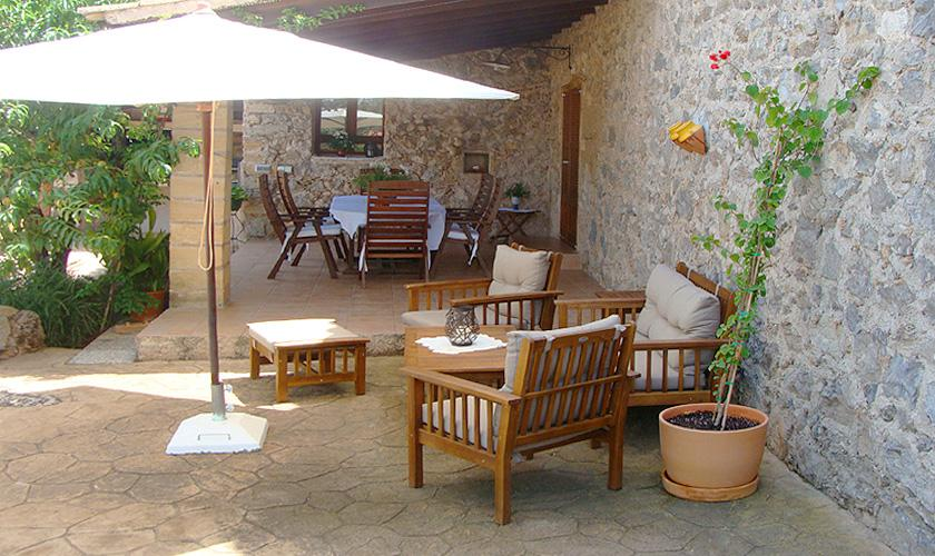 Überdachte Terrasse Finca Mallorca bei Arta PM 559