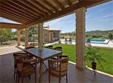 Überdachte Terrasse Finca Mallorca bei Arta PM 5679