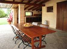 Überdachte Terrasse Finca Mallorca bei Arta PM 567