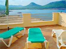 Dachterrasse Ferienwohnung Mallorca Cala Ratjada für 6 Personen PM 578