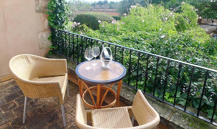 Terrasse oben Ferienfinca Mallorca PM 5835