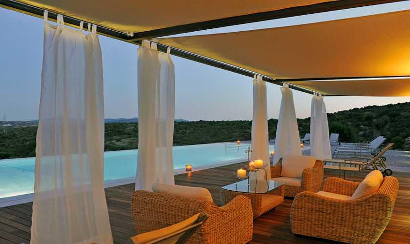 Abendstimmung am Pool Finca Mallorca PM 585