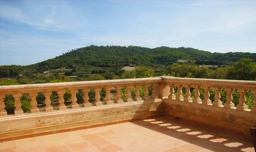 Blick von der Dachterrasse Ferienfinca Mallorca PM 5871