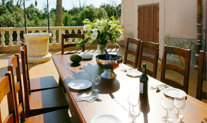 Terrasse Ferienhaus Mallorca 12 Personen PM 596