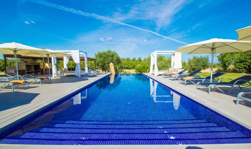 Poolblick Luxusfinca Mallorca 12 Personen PM 6001
