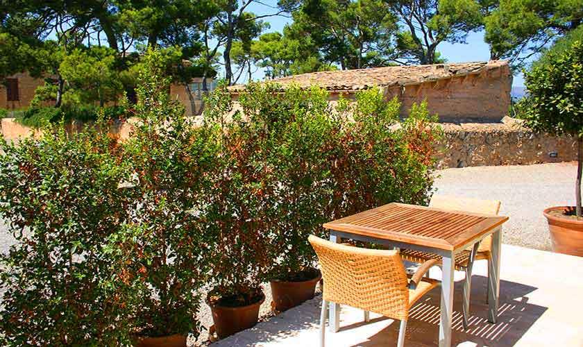 Terrasse Estudio  Finca Mallorca Son Suau Vell
