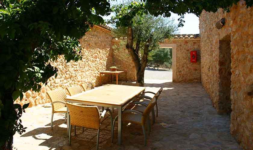 Terrasse Vaqueria Grande Finca Mallorca Son Suau Vell