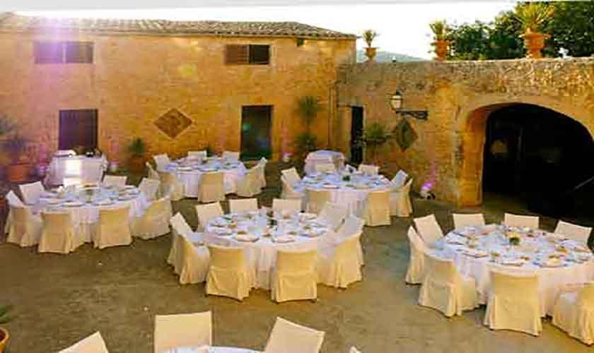 Patio Haupthaus Finca Mallorca Son Suau Vell