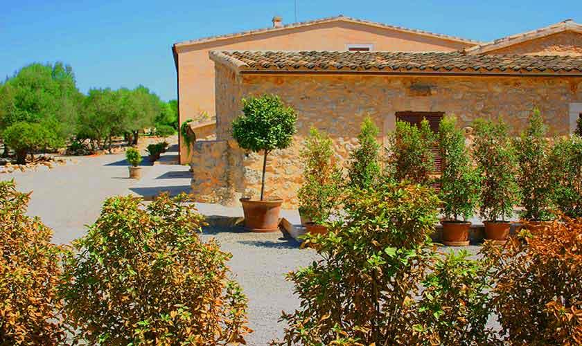 Blick auf die Finca Ferienwohnung Mallorca für 4 Personen