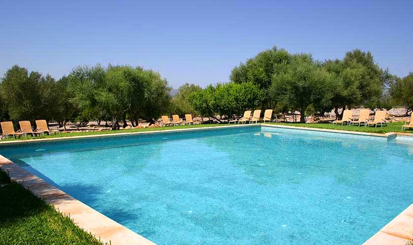 Poolblick Ferienwohnung Finca Mallorca für 4 Personen