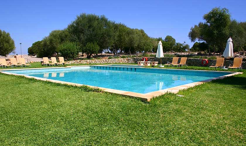 Pool der großen Finca Mallorca Son Suau Vell