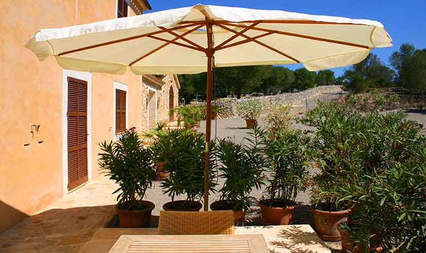 Terrasse Finca Son Suau Vell Mallorca für 4 Personen