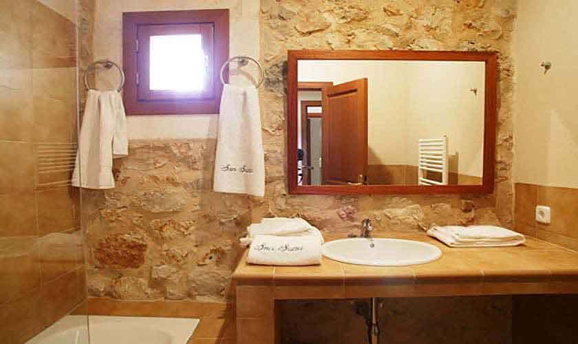 Badezimmer Yeguas Finca Mallorca Son Suau Vell 4 Personen