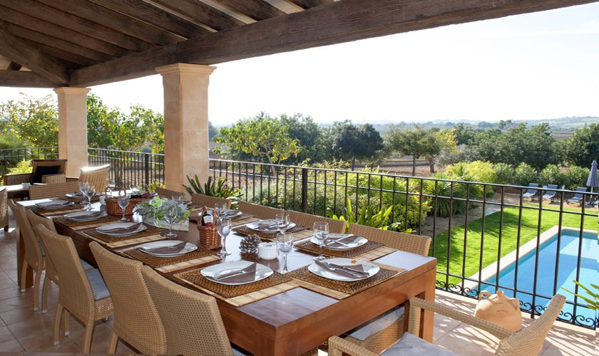 Terrasse oben Ferienfinca Mallorca PM 6015