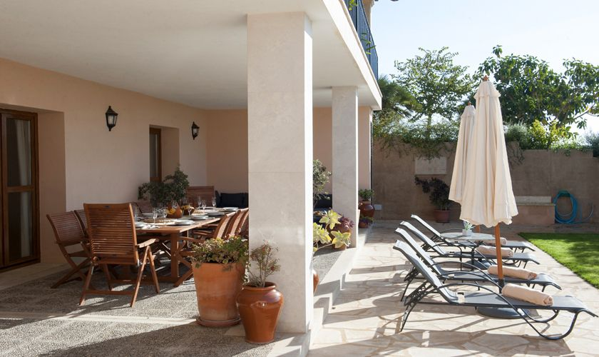 Terrasse unten Ferienfinca Mallorca PM 6015