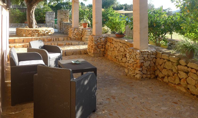 Terrasse Ferienfinca Mallorca Ostküste PM 6017