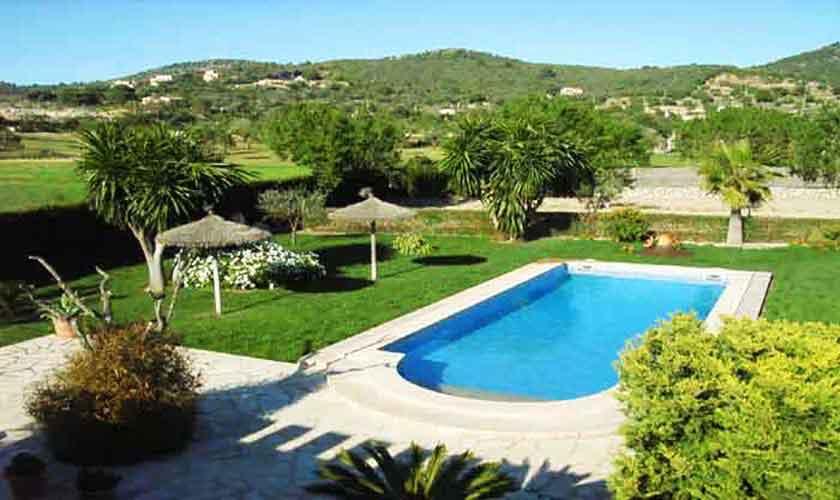 Pool und Landschaft Finca Mallorca PM 601