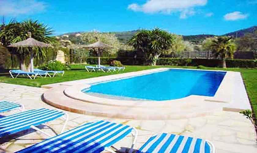 Pool und Liegen Finca Mallorca PM 601