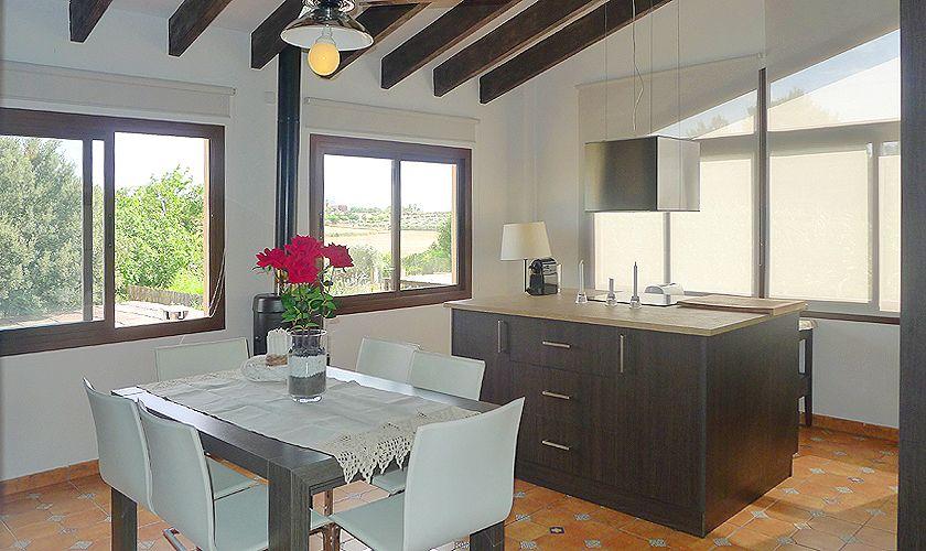 Küche oben Finca Mallorca mit Pool PM 6022