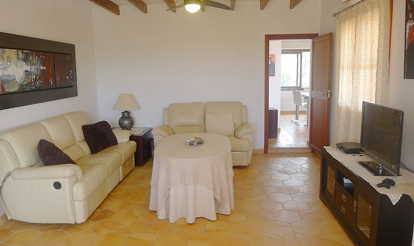 Wohnraum oben Finca Mallorca mit Pool PM 6022