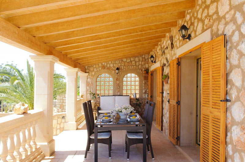 Terrasse Ferienvilla Mallorca PM 6052 im Südosten