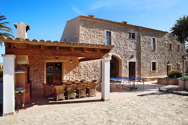 Terrasse Finca Mallorca Südosten PM 6053