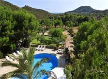 Blick auf den Pool Finca Mallorca PM 6055 im Südosten für 10 Personen