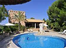 Blick auf den Pool 3 Finca Mallorca PM 6055 im Südosten für 10 Personen