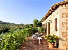 Terrasse 2 der Ferienfinca Mallorca PM 6055 im Südosten für 10 Personen