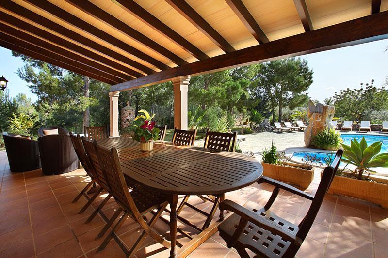 Terrasse Ferienfinca Mallorca PM 6055 im Südosten für 10 Personen