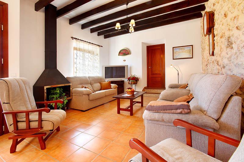 Wohnraum Ferienfinca Mallorca Südosten PM 6056 für 12 - 14 Personen