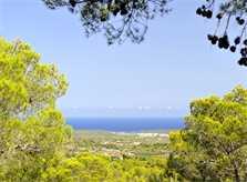 Blick bis zum Meer 2 von der Ferienvilla Mallorca Südosten PM 6061