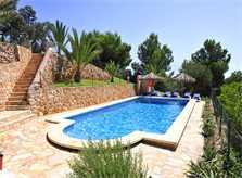 Blick auf den Pool der Ferienvilla Mallorca Südosten PM 6061