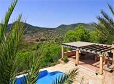Pool und Blick Finca Mallorca PM 6061 im Südosten