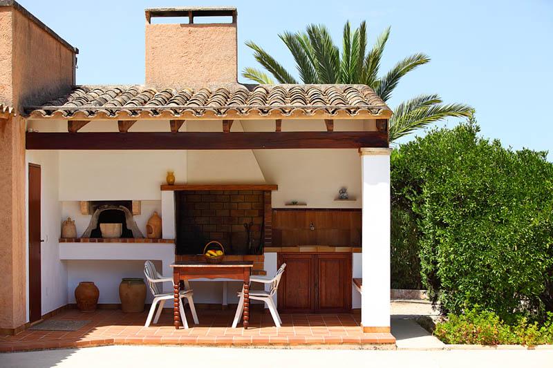 Barbecue der Ferienvilla Mallorca PM 6062 im Südosten für 6-7 Personen