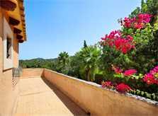 Terrasse oben der Ferienvilla Mallorca PM 6062 im Südosten für 6-7 Personen