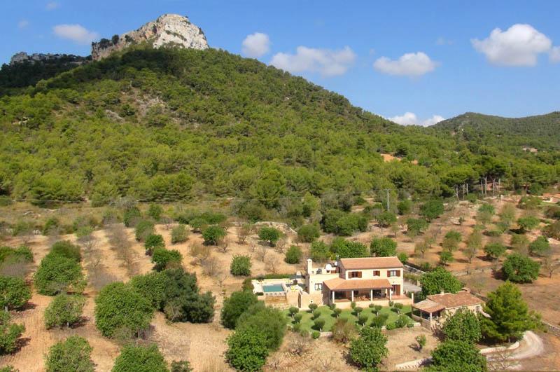 Landschaft Finca Mallorca mit Pool Südosten PM 6063