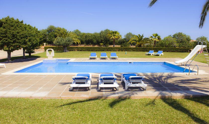 Poolblick Finca Mallorca Südosten PM 6071