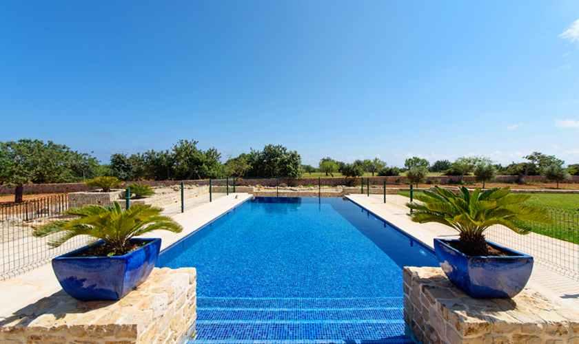 Poolblick Luxusfinca Mallorca Südosten PM 6075