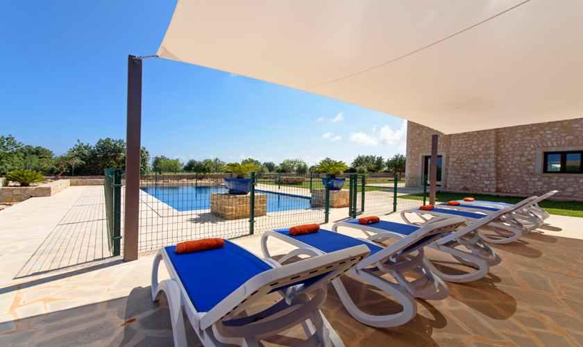 Terrasse Ferienvilla Mallorca Südosten PM 6075