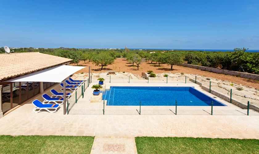 Pool der Luxusfinca Mallorca Südosten PM 6075