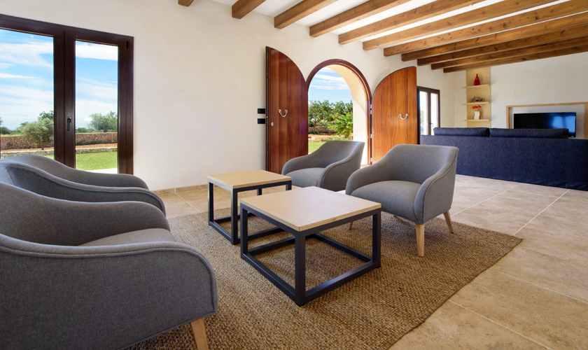 Wohnraum Ferienvilla Mallorca Südosten PM 6075