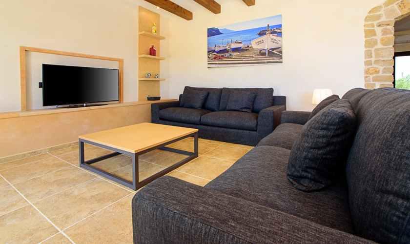 Wohnraum Exklusive Finca Mallorca 8 Personen PM 6075