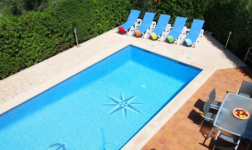 Poolblick Ferienvilla Mallorca mit Pool PM 6079