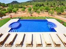 Poolblick Luxusfinca Mallorca Südosten PM 6086
